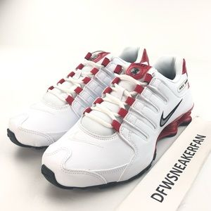 Nike Shox NZ Men's Athletic Sneakers White Red